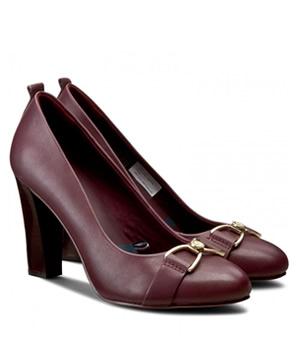 Pantofi Dama Bordo Cu Toc Tommy Hilfiger