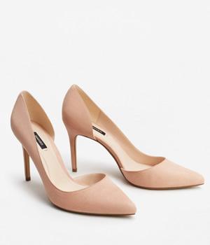 Pantofi Mango Cu Toc Decupati Lateral