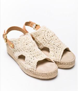 Sandale crosetate cu talpa groasa